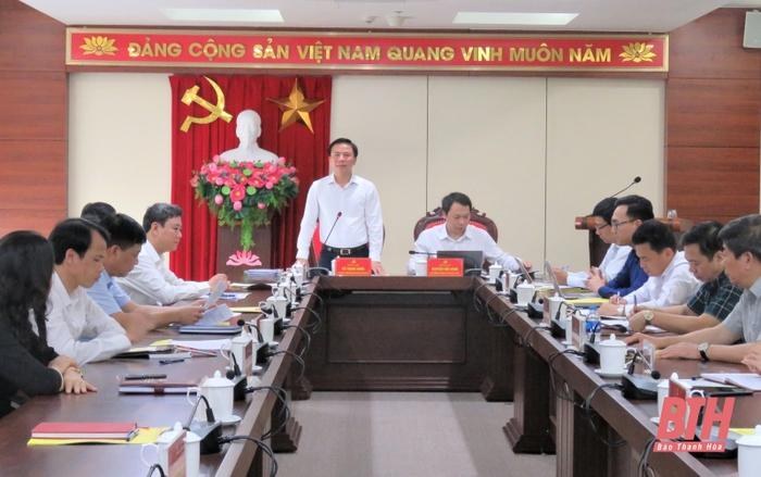Đoàn công tác Bộ Thông tin và Truyền thông làm việc với Ban Thường vụ Thành uỷ TP Thanh Hoá - Ảnh 1.