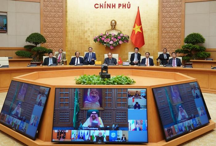 Thủ tướng dự họp thượng đỉnh trực tuyến G20 ứng phó COVID-19 - Ảnh 2.