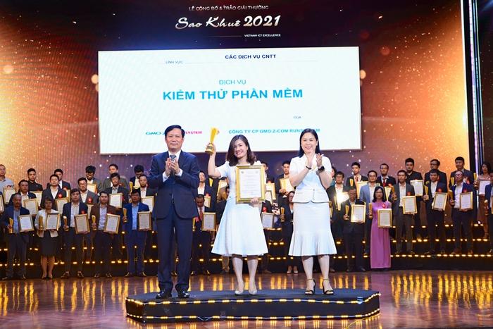 """02 sản phẩm chuyển đổi số""""Make in Vietnam"""" của GMO-Z.com RUNSYSTEM nhận cú đúp danh hiệu Sao Khuê 2021 - Ảnh 1."""