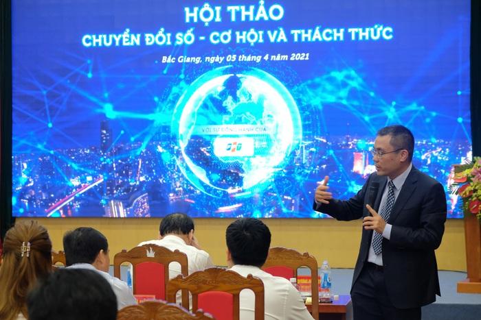 """Ông Dương Dũng Triều, Chủ tịch FPT IS: """"Chuyển đổi số là sự thay đổi toàn diện của tổ chức, bắt đầu từ quyết tâm của người lãnh đạo"""","""