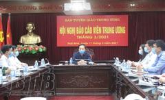 Hội nghị Báo cáo viên Trung ương tháng 3-2021