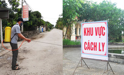 Ninh Bình: Cách ly 24 người tiếp xúc với BN170, dân làng khử khuẩn khắp các con ngõ