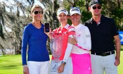Chị em nhà Korda ẵm 2 danh hiệu LPGA đầu tiên trong mùa 2021