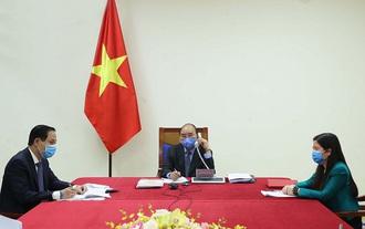 Thủ tướng Nguyễn Xuân Phúc điện đàm với Tổng thống Hàn Quốc về phòng, chống dịch bệnh COVID-19