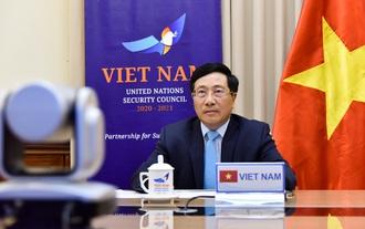Phó Thủ tướng, Bộ trưởng Ngoại giao Phạm Bình Minh tham dự Phiên thảo luận mở Cấp cao trực tuyến của Hội đồng Bảo an Liên hợp quốc